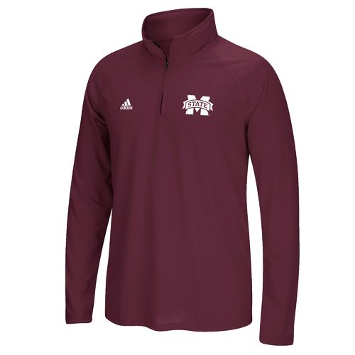 adidas Men's Mississippi State University Sideline Basic Logo 1/4 Zip Pullover - view number 1