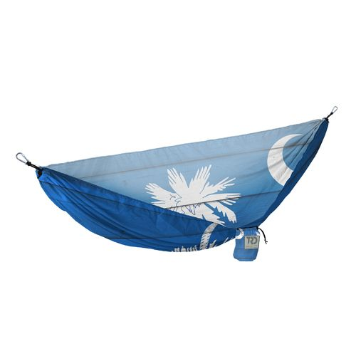 Twisted Root Design Twisted Print South Carolina Wood Flag Hammock