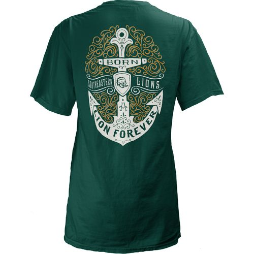 Three Squared Juniors' Southeastern Louisiana University Anchor Flourish V-neck T-shirt