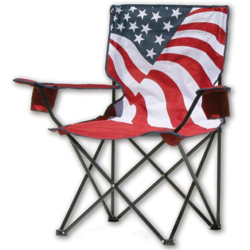 Quik Shade US Flag Print Folding Camping Chair