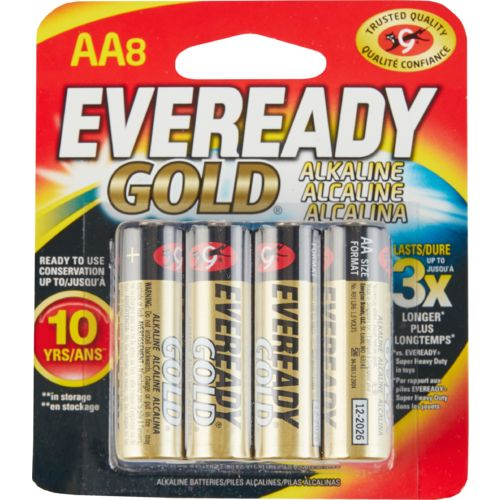 Eveready Gold AA Alkaline Batteries 8-Pack
