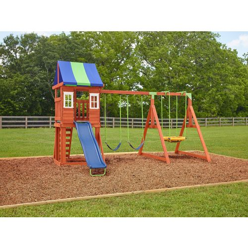Display product reviews for AGame West Fork Wooden Swing Set