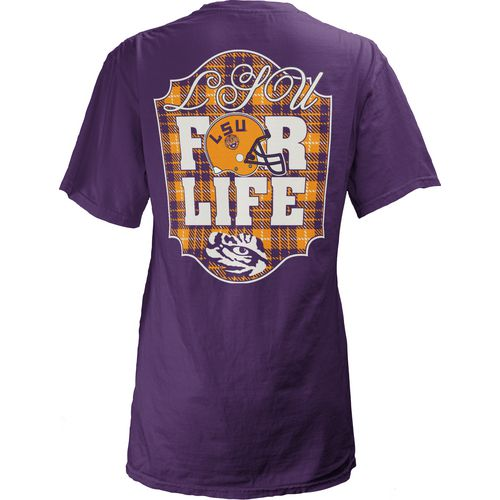 Three Squared Juniors' Louisiana State University Team For Life Short Sleeve V-neck T-shirt