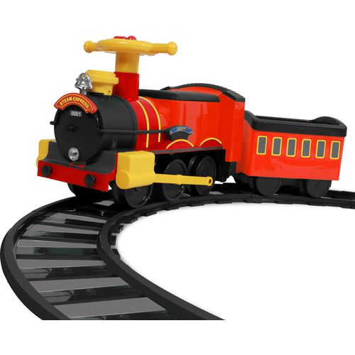 rollplay 6v kids ride along motorized steam train ride on