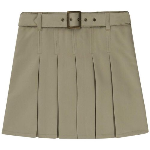 French Toast Girls' Plus Size Square Buckle Belt Pleated Uniform Scooter