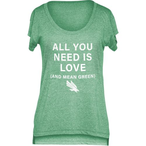 Chicka-d Women's University of North Texas Scoop-Neck T-shirt