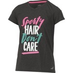 BCG Girls' Turbo Sporty Hair Don't Care Graphic Short Sleeve T-shirt - view number 3