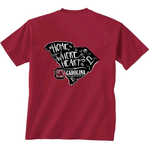 New World Graphics Girls' University of South Carolina Where the Heart Is Short Sleeve T-shirt