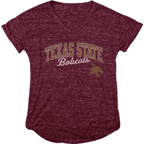 Blue 84 Women's Texas State University Dark Confetti V-neck T-shirt
