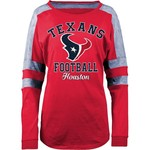 5th & Ocean Clothing Women's Houston Texans Space Dye Long Sleeve Fan Top - view number 1