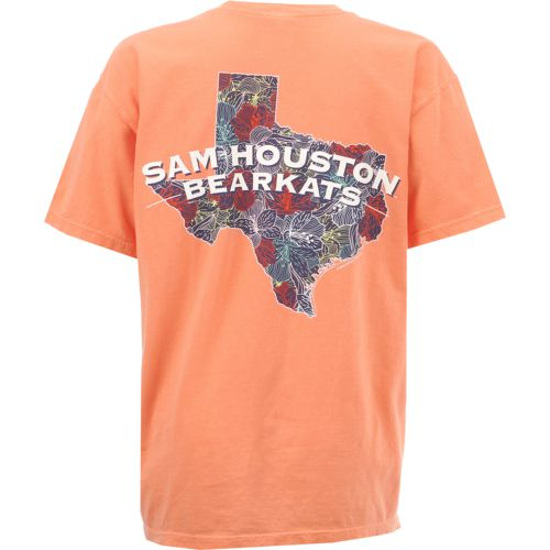 New World Graphics Women's Sam Houston State University Comfort Color Puff Arch T-shirt
