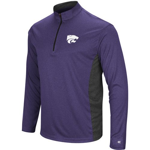 Colosseum Athletics Men's Kansas State University Audible 1/4 Zip Windshirt