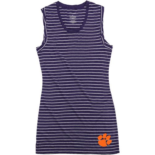 Boxercraft Women's Clemson University Striped Sleep T-shirt
