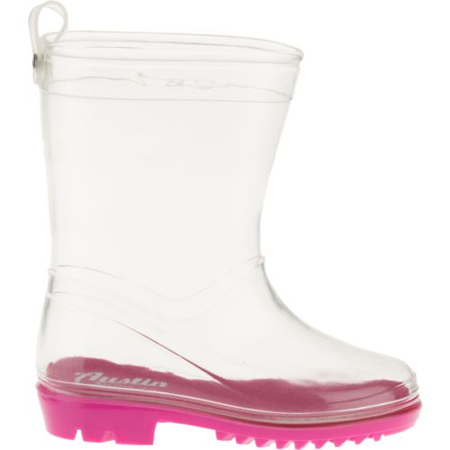 Display product reviews for Austin Trading Co. Toddler Girls' Clear PVC Boots