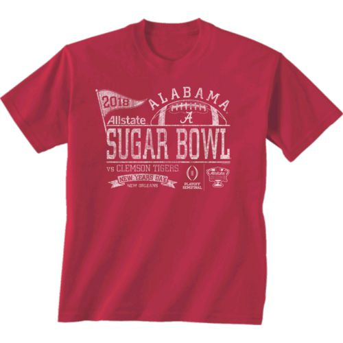 New World Graphics Men's University of Alabama Sugar Bowl Pennant T-Shirt