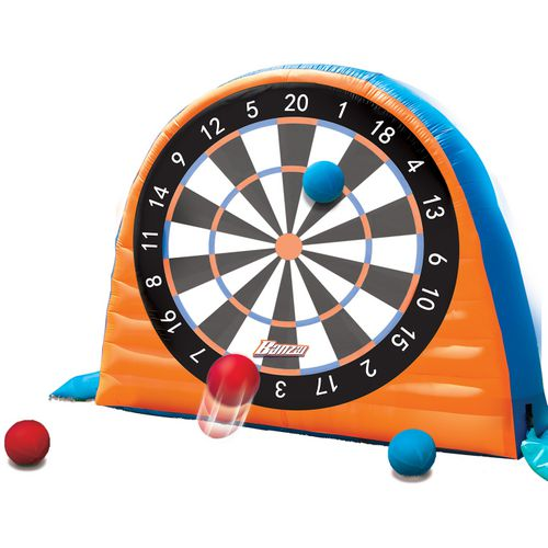 Banzai Land Bouncer All Star Inflatable Kick Dartboard Set