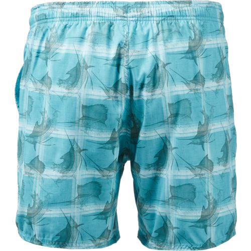 Guy Harvey Men's Sailfish Plaid Volley Shorts - view number 2