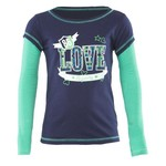 BCG™ Girls' 2-Fer Long Sleeve Graphic T-shirt