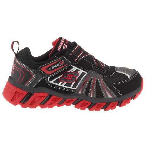 SKECHERS Boys' Z-Strap Pillar Athletic Lifestyle Shoes