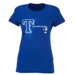 Majestic Women's Texas Rangers Logo T-shirt