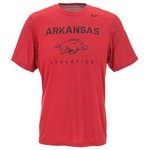 Nike Men's University of Arkansas Dri-FIT Athletics Legend Short Sleeve T-shirt