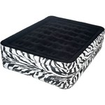 Pure Comfort Zebra Queen-Size Airbed with Electric Pump