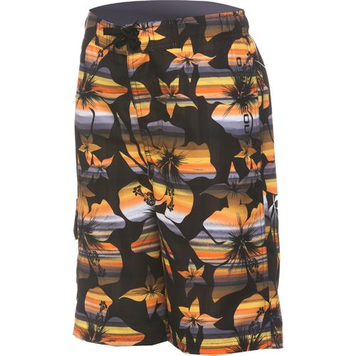 O'Rageous Boys' Ombre Hibiscus Boardshort