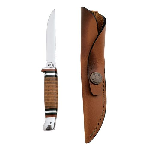 Case® Cutlery Leather Hunter Fixed Blade Knife