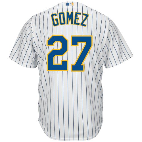 Majestic Men's Milwaukee Brewers Carlos Gomez #27 Cool