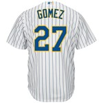Majestic Men's Milwaukee Brewers Carlos Gomez #27 Cool Base® Alternate Jersey