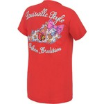 New World Graphics Women's University of Louisville Bright Bow T-shirt