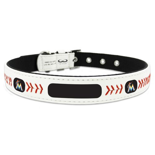 GameWear Miami Marlins Classic Leather Baseball Dog Collar