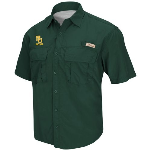 Colosseum Athletics Men's Baylor University Swivel Fishing Shirt