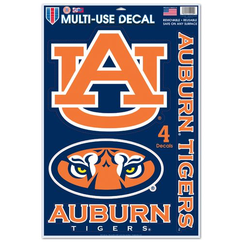 WinCraft Auburn University Multiuse Decals 4-Pack