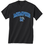 New World Graphics Men's University of Memphis Arch Mascot T-shirt
