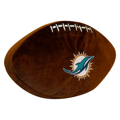 The Northwest Company Miami Dolphins Football Shaped Plush Pillow