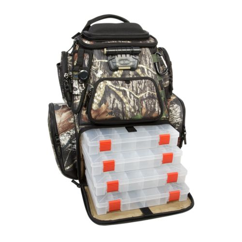 Wild River® Tackle Tek™ Nomad Mossy Oak Camo Lighted Fishing Backpack - view number 1