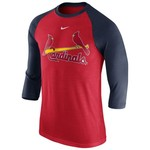 Nike Men's St. Louis Cardinals Wordmark Raglan 3/4 Sleeve T-shirt