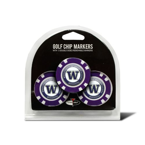 Team Golf University of Washington Poker Chip and Golf Ball Marker Set - view number 1