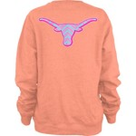 Three Squared Juniors' University of Texas Lined Chevron Fleece Pullover