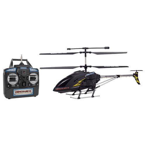 World Tech Toys Hercules X Black Series Unbreakable 3.5-Channel RC Helicopter