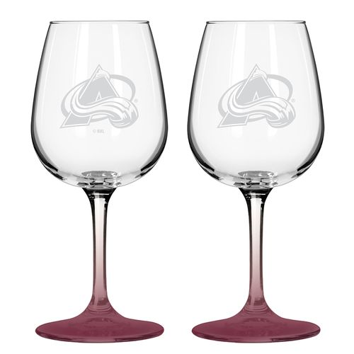 Boelter Brands Colorado Avalanche 12 oz. Wine Glasses 2-Pack