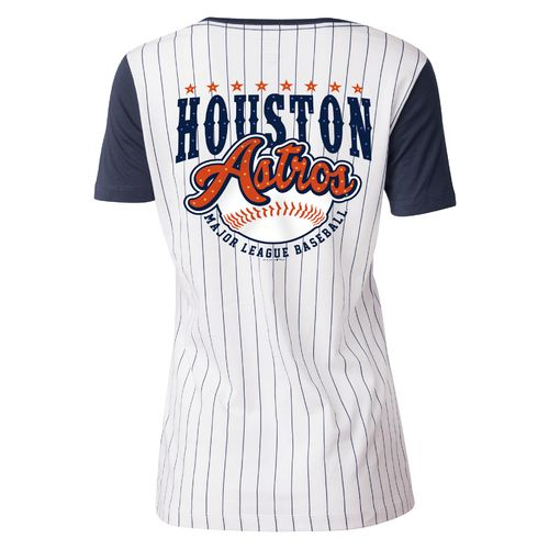 5th & Ocean Clothing Juniors' Houston Astros Scoop Neck T-shirt