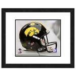 "Photo File University of Iowa Helmet 16"" x 20"" Matted and Framed Photo"
