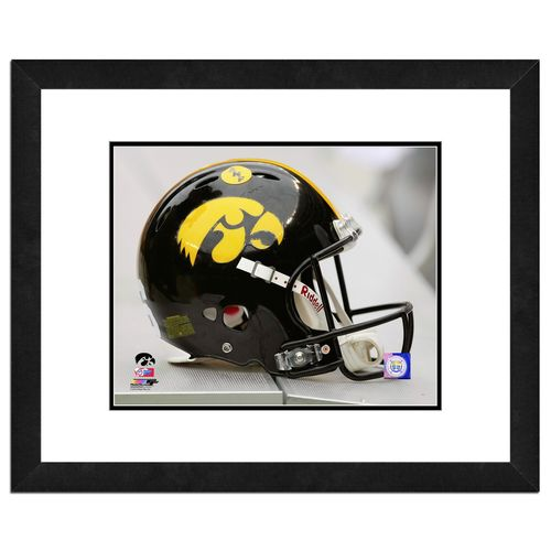 Photo File University of Iowa Helmet 16' x 20' Matted and Framed Photo