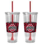 Boelter Brands Ohio State University Bold Neo Sleeve 22 oz. Straw Tumblers 2-Pack - view number 1