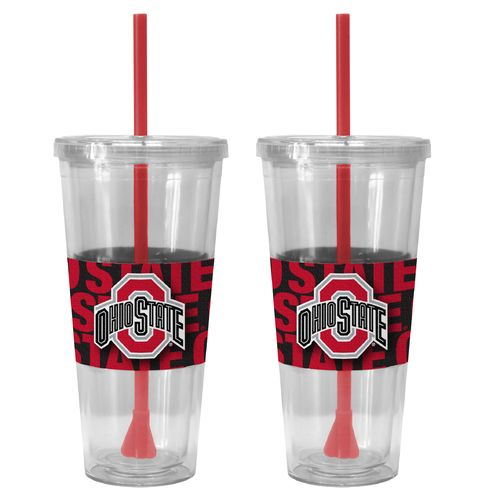 Boelter Brands Ohio State University Bold Neo Sleeve 22 oz. Straw Tumblers 2-Pack