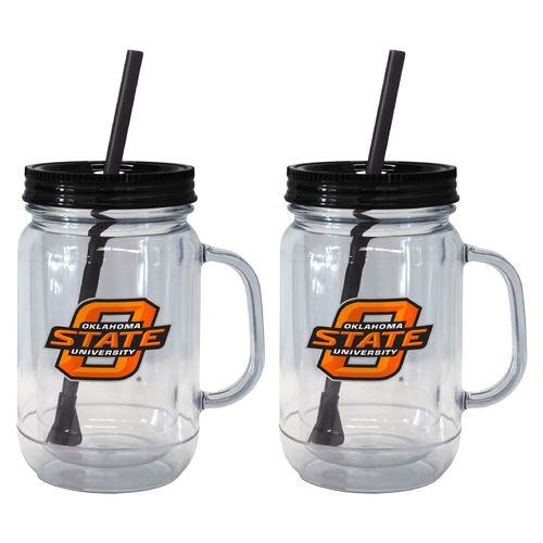 Boelter Brands Oklahoma State University 20 oz. Handled Straw Tumblers 2-Pack