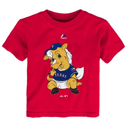Majestic Toddlers' Texas Rangers Baby Mascot Short Sleeve T-shirt