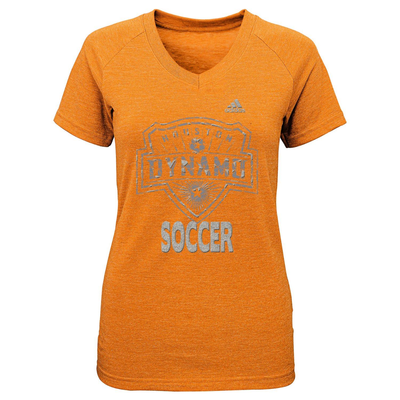 adidas™ Girls' Houston Dynamo Liquid Silver Shine T-shirt